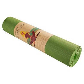 Коврик для йоги и фитнеса зеленый Green Camp 6мм, Tpe SKL11-291766