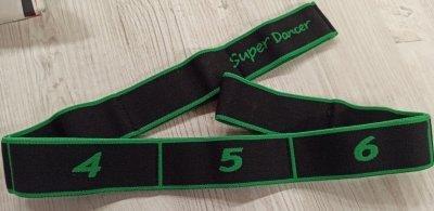 Эластичная лента с петлями для растяжки World Sport зеленая 92см SKL11-291779