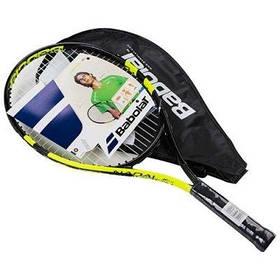 Ракетка для большого тенниса Babolat JR салатовая, длина 23 дюйма SKL11-291791