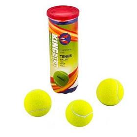 Мяч теннис King-Becket 3шт желтый SKL11-291800