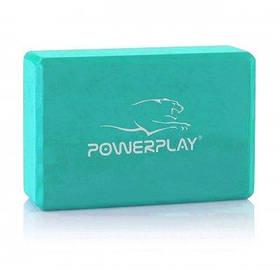 Блок для йоги PowerPlay Yoga Brick Мятний SKL24-291933