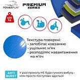 Мяч для фітнесу укріплений PowerPlay Premium 65см Синій насос SKL24-292013, фото 6