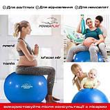 Мяч для фітнесу укріплений PowerPlay Premium 65см Синій насос SKL24-292013, фото 8