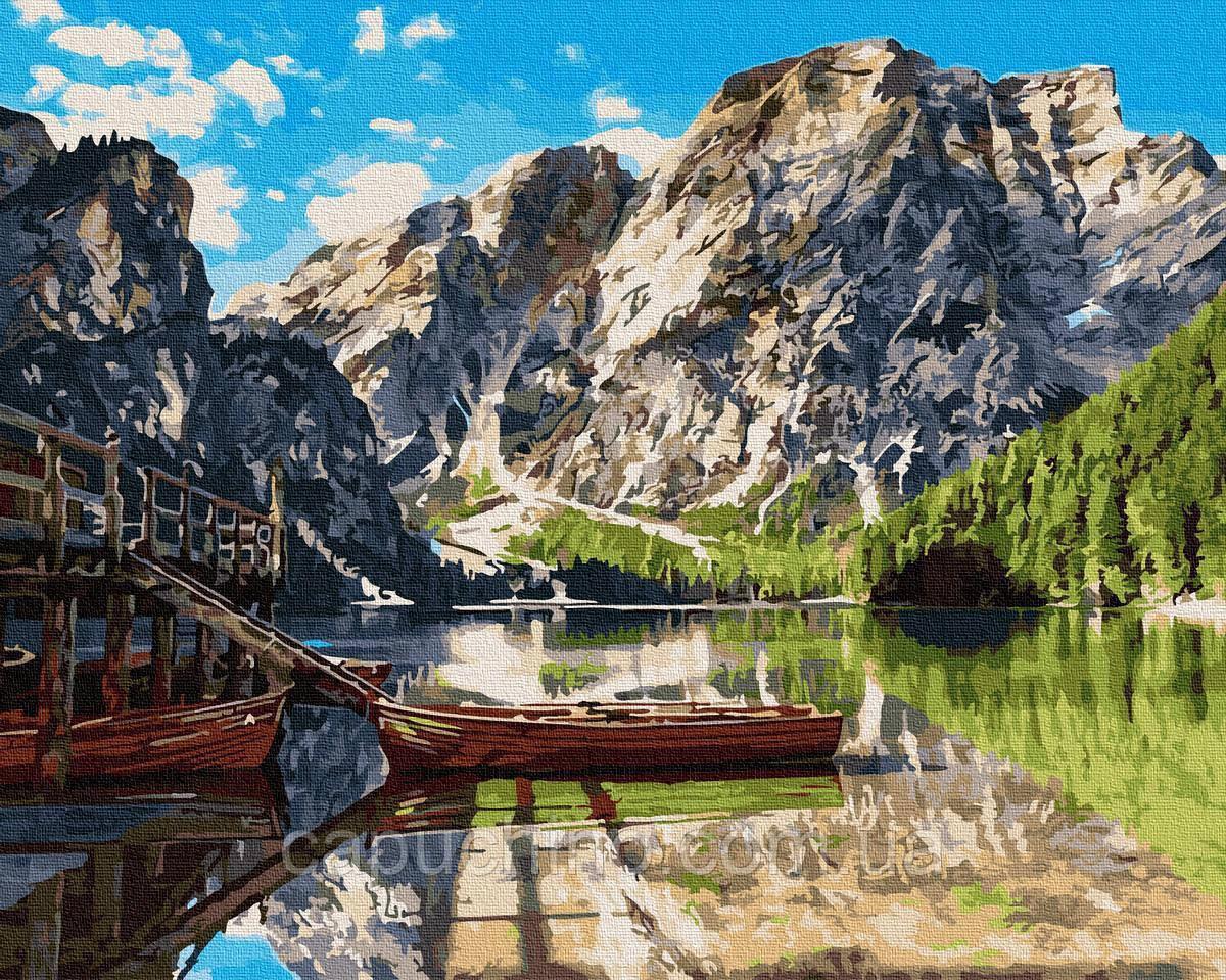 Картина малювання за номерами Brushme Пірс на озері Комо GX26742 40х50см в коробці набір для розпису, фарби,