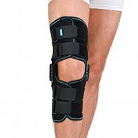 Ортез коленного сустава, неопреновый, шарнирный, с регулированным углом сгиба, Алком 4032