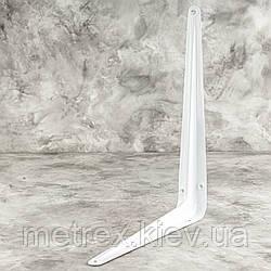 Консольный уголок для крепления полок 200х250 мм эмалированный белый