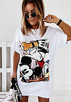 Летние платья - 25534 - Модное молодежное летнее платье туника футболка