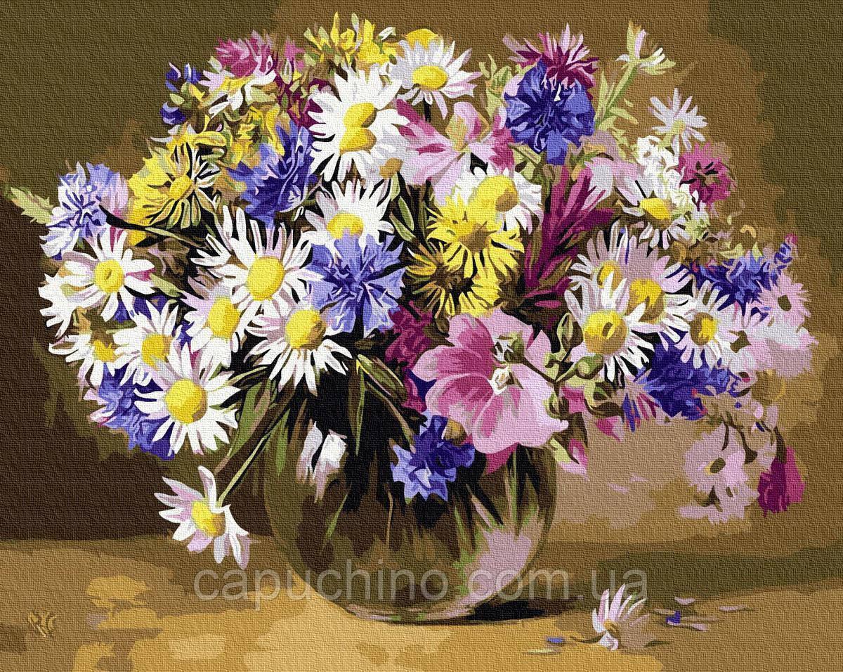 Картина по номерам рисование Brushme Полевые цветы BRM9767 40х50 см Цветы, букеты, натюрморты набор для