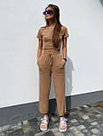 Літній костюм жіночий прогулянковий з широкими штанами, фото 3