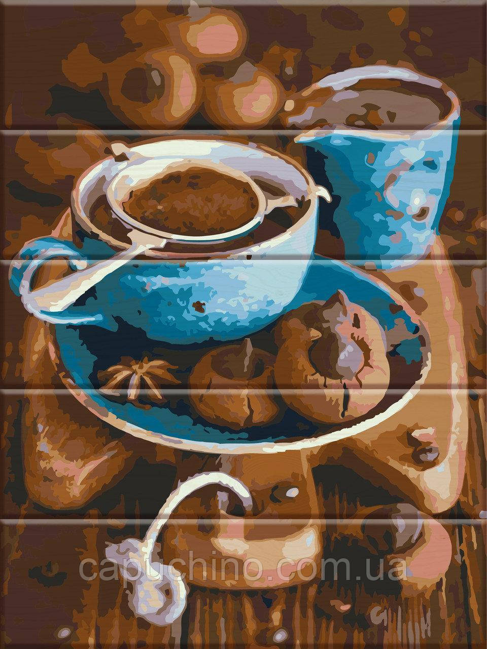 Картина по номерам рисование на дереве ArtStory Вкус кофе ASW026 30х40 см набор для росписи краски, кисти,