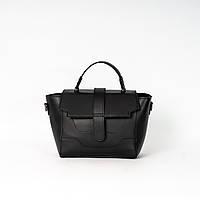 Женская молодежная сумка K05-20/1 черная маленькая модная кросс-боди на плечо, фото 1