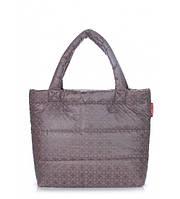 Сумка женская дутая POOLPARTY Big Eco Bags Mosaic серая, фото 1