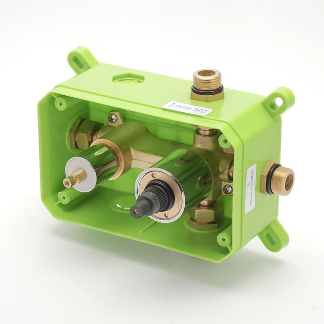 Вбудовуваний змішувач для душу KGB-04 використовується для комплектації душових систем, гарнітурів, програм прихованого монтажу.