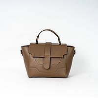 Женская молодежная сумка K05-20/2 коричневая маленькая модная кросс-боди на плечо, фото 1