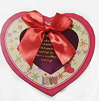 Подарочная коробочка для упаковки подарков в виде сердца 8*12*12,5см красная