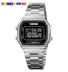 Классические часы Skmei 1647 (Silver-Black)