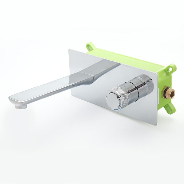 Смеситель для раковины скрытого монтажа KGR-04 с пластиковым монтажным боксом iBox.
