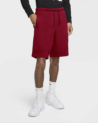 Шорти Jordan Jumpman Air men's Fleece Shorts CK6707-687 Красний, фото 2