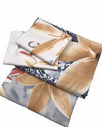 """Комплект постельного белья с цветами в размерах из ранфорса """"Ваниль"""""""