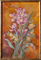 Картина батик цветы Орхидеи (Картины Орхидеи живопись)