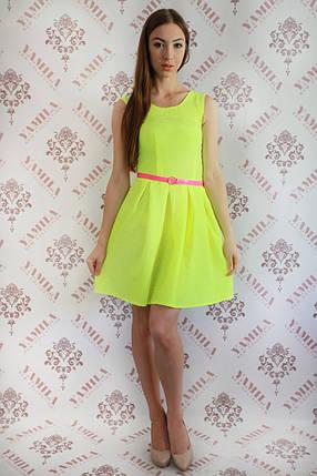 """Элегантное яркое платье с поясом """"Ксюша""""., фото 2"""