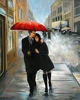 Картина городской пейзаж Любовь в большом городе (картина на тему Нью Йорка)