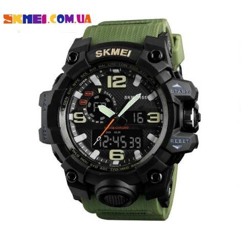 Чоловічий тактичний годинник Skmei 1155 (Army Green)