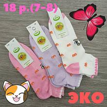 Шкарпетки дитячі з сіткою, для дівчинки, ЕКО, р. 18(7-8), асорті, 30031332