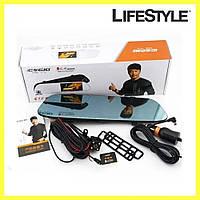 Автомобильный видеорегистратор DVR C12 / Авторегистратор / Регистратор в машину с двумя камерами