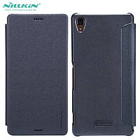 Чехол книжка кожаный Nillkin Sparcle New Leather Case для Sony Xperia Z3 D6603 Black, фото 1