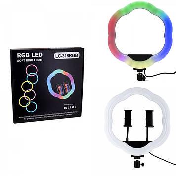 Кольцевая Led Лампа Ring RGB LC-318 (Flower Type)