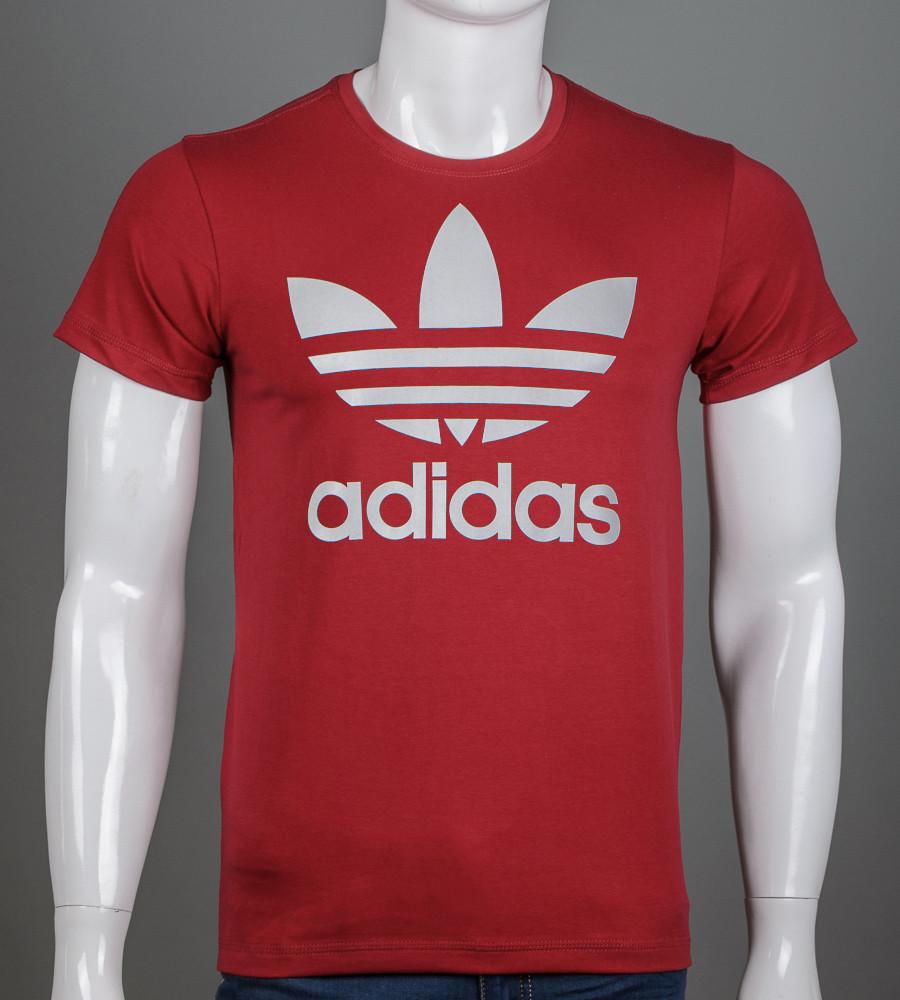 -Р- Футболка мужская Adidas Бордовый (2112м), L