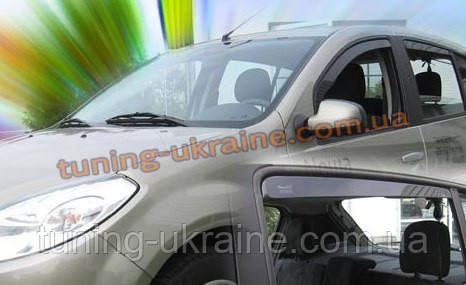 Дефлекторы окон (ветровики) HEKO для Dacia  Logan 2014+