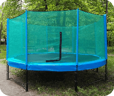 Батут із захисною сіткою (427 см)