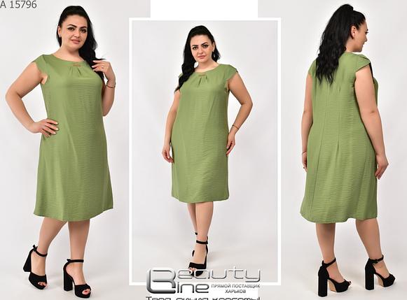 Платье летнее из крэш жатка большие размеры Украина Размеры: 50.52.54.56.58.60, фото 2