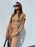 Костюм жіночий прогулянковий з укороченим топом, фото 4