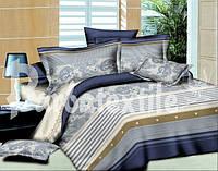 Полуторное постельное белье Ranforce 3D полосками