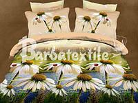 Полуторное постельное белье Ranforce с эффектом 3D ромашки