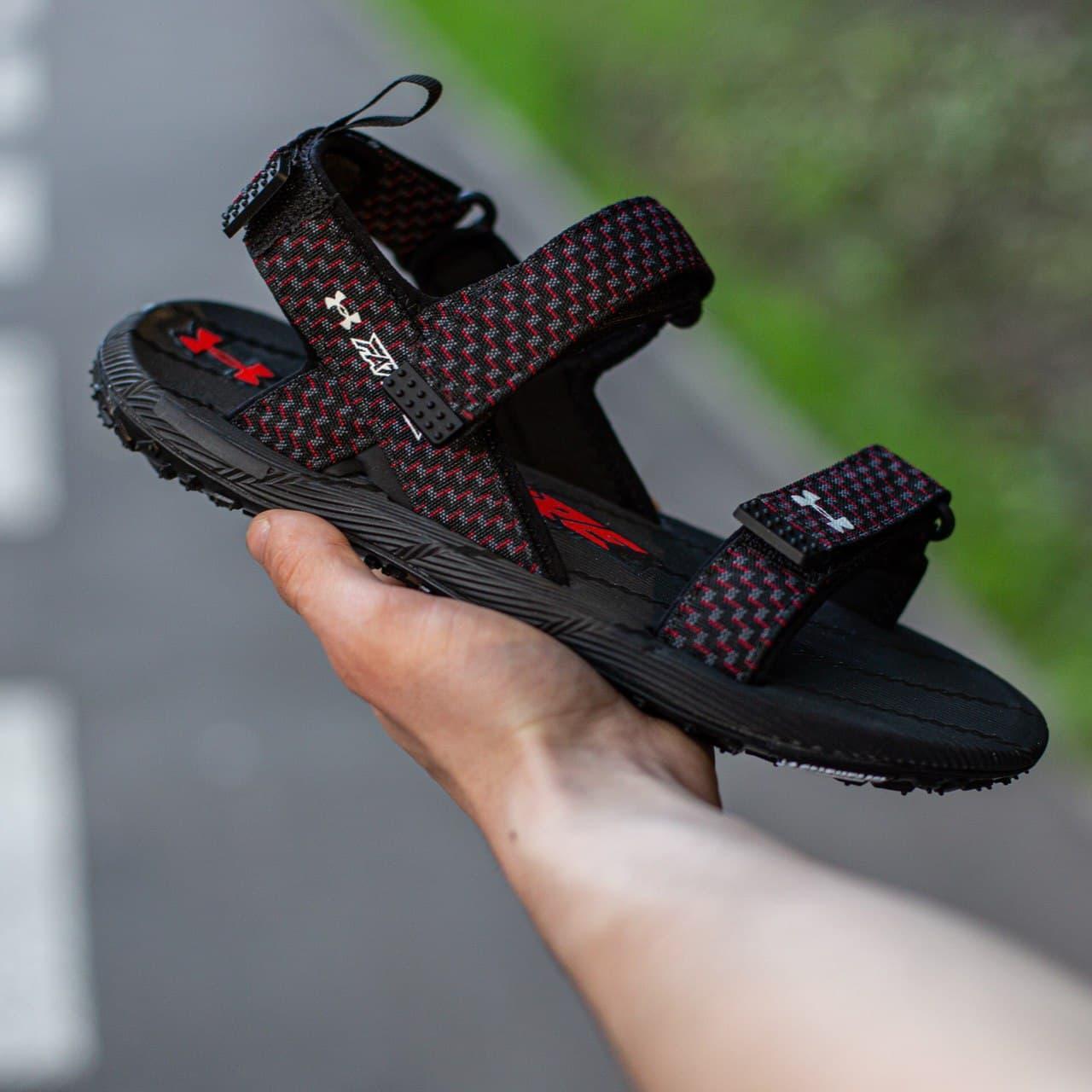 Мужские сандали Under Armour Sandala Black\Red