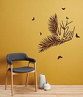 Виниловая наклейка на стену Маникюр и педикюр (декор для салона красоты ногти) матовая 700х750 мм