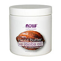 Масло зерен какао Now Foods Cocoa Butter with Jojoba Oil 192 мл