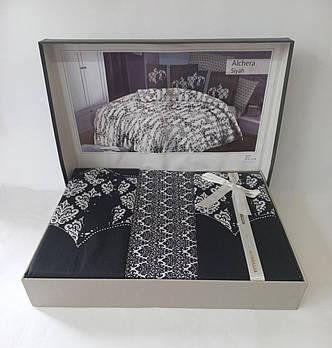 Постельное белье Altinbasak сатин 200x220 Alchera Siyah