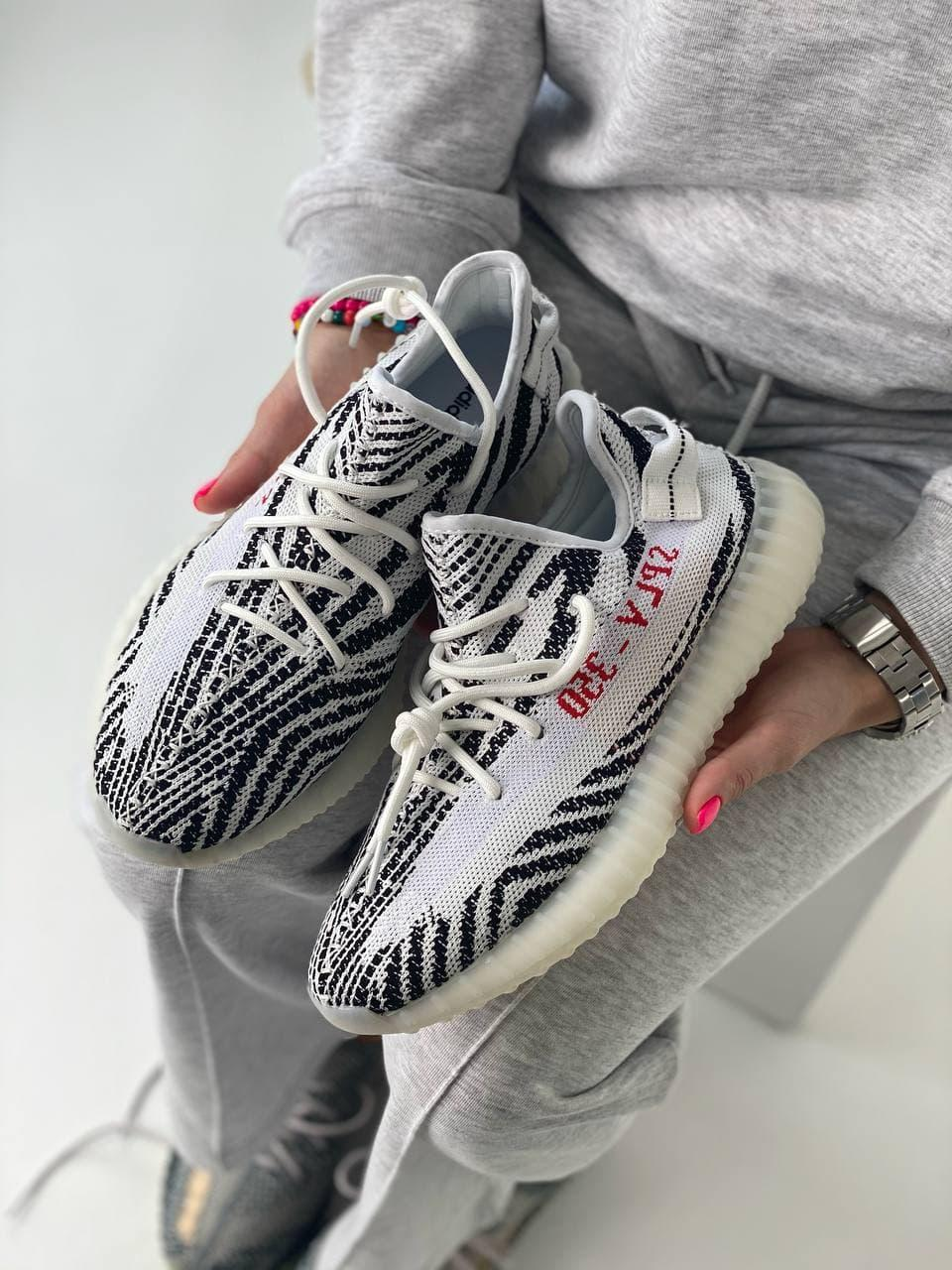 Кроссовки Adidas Yeezy Boost 350 Zebra (Адидас Изи Буст Зебра) женские и мужские размеры: 36-45