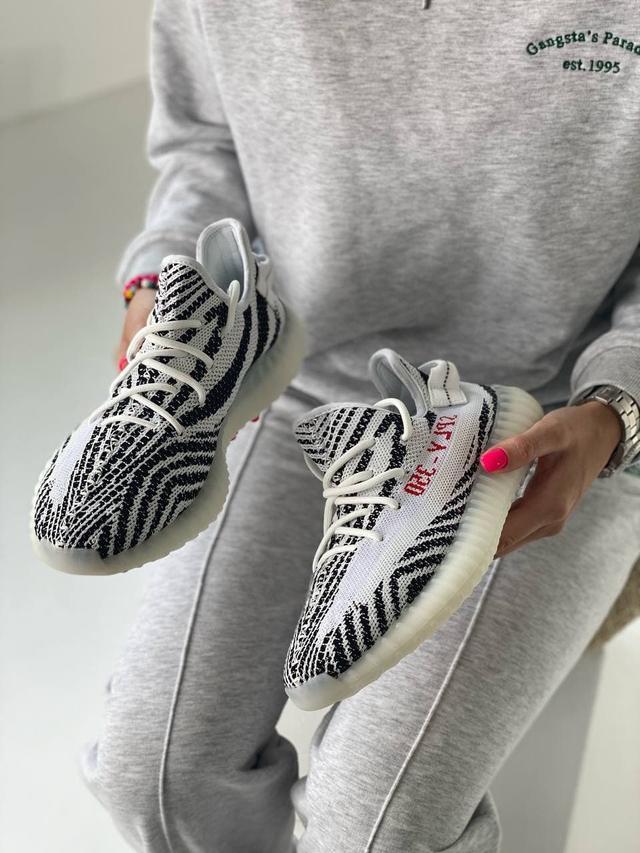 Кроссовки Adidas Yeezy Boost 350 Zebra фото