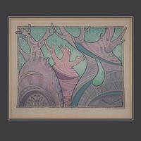 Абстрактная картина для дома Баобабы