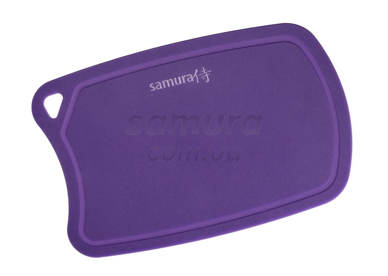 Дошка обробна термопластіковая з антибактеріальним покриттям, Samura Fusion, бузкова (SF-02V)