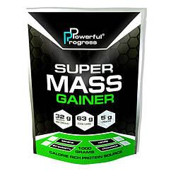 Гейнер для набора массы Powerful Progress Super Mass Gainer 1000 грамм Ягодный Чизкейк