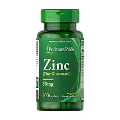 Цинк Puritan's Pride Zinc Gluconate 50 mg 100 капсул