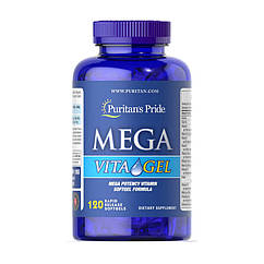 Комплекс витаминов Puritan's Pride Mega Vita Gel 120 капсул