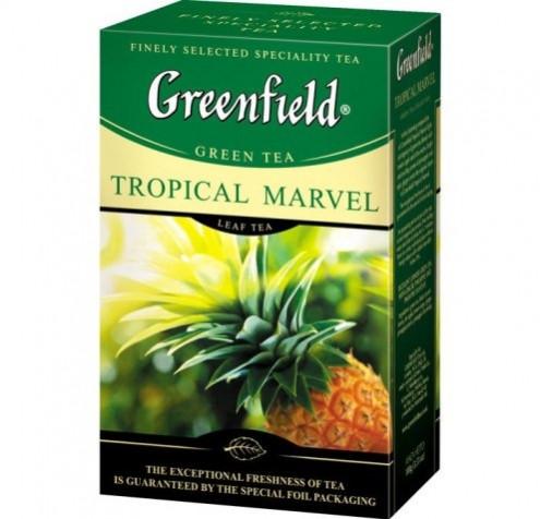 Чай зелёный Greenfield Tropical Marvel Тропик 100 г.